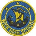 WICK HIGH SCHOOL ZIPPED HOODIE WITH EMBROIDERED LOGO